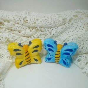 Whimsical Butterfly Salt Pepper Shakers